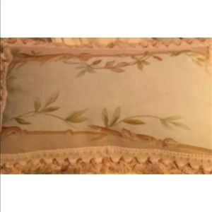 "Other - ANTIQUE AUBUSSON PILLOW 21""x13"""
